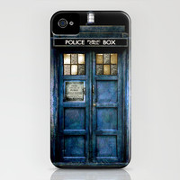 Tardis Doctor Who With Yellow light windows iPhone & iPod Case by Pointsalestore