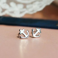 Cute Anchor Mini Earrings