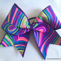 Neon Twister Cheer Bow Cheerleading