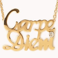 Statement Carpe Diem Necklace