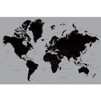 World Map 24X36 Poster Contemporary Reference Pp31842 $2.66