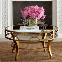 Lena Mirrored-Top Coffee Table
