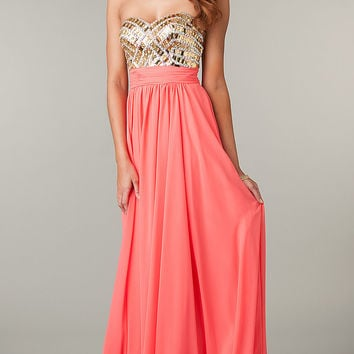 Strapless Sweetheart Full Length Dress