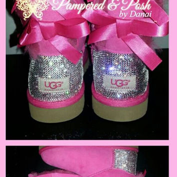 LITTLE KID-TEEN Swarovski Crystal Embellished Bailey Bow Uggs