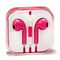 Zeimax Earbuds EarPods With Mic and Remote Earphone Headphone Compatible with iPhone 3 4 5 5S 5C, iPad, iPod (Pink)