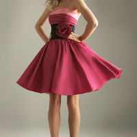 2011 Prom Dresses! Night Moves Short Color Block Cocktail Dress- Size 0-18 - Unique Vintage - Bridesmaid & Wedding Dresses