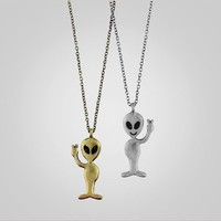 Happy alien necklace-comic fun
