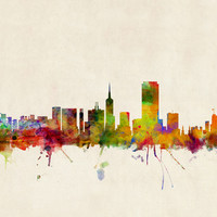 San Francisco City Skyline Art Print by ArtPause