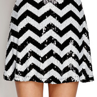 Mod Sequined Skater Skirt