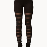 Mesh Stripe Leggings