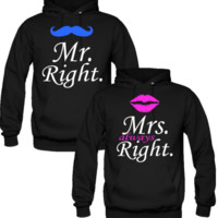 Mr Right and Mrs Always Right Love Couple Hoodie - TeeeShop