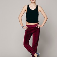 SOLOW + FP Movement Womens Velour Lounge Pant - Oxblood, S
