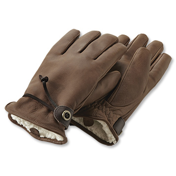 Mens Winter Leather Gloves / Bison from Orvis