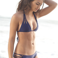 The Girl and The Water - ACACIA Swimwear 2014 - Tunnels Bikini Top / Indigo - $110