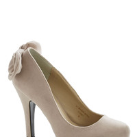 Standout Ovation Heel in Beige
