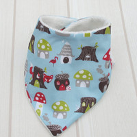 ORGANIC Baby Bandana Dribble Bib in 'Fox Hollow' - an Eco Friendly gift idea from Cwtch Bugs