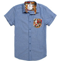 On The Byas Jeff Contrast Pocket Short Sleeve Woven Shirt at PacSun.com