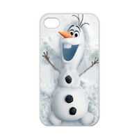 Custom Frozen Olaf Case for iPhone 4,4S 100% TPU (Laser Technology), Vintage Hard Covers/Cases/Protectors