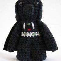 Darth Vader inspired amigurumi. Star wars crochet softy. Star wars crocheted push.