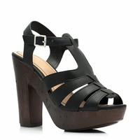 Wood You Rather Strappy Heels