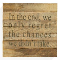 'Regret Chances' Wall Art | Nordstrom