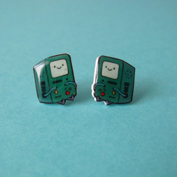 Adventure Time Earrings - Beemo