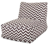 Majestic Home Goods Chocolate Zig Zag Bean Bag Chair Lounger