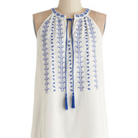 ModCloth Boho Mid-length Sleeveless Balos Lagoon Top