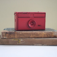 Camera / Red Painted Camera / Upcycled Camera / Painted Camera, Red Kodak Instamatic Camera / Art Camera / Home Decor