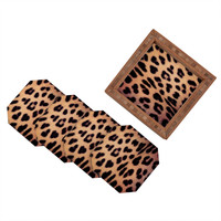 Ballack Art House Leopard 1986 Coaster Set - 4 Coasters