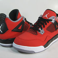 JORDAN 4 RETRO (PS) Fire Red/White-Black-Grey -308499 603- PRESCHOOL