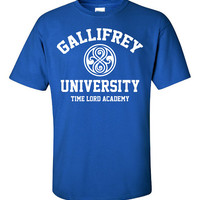 Gallifrey Alumni Time Lord Academy Doctor Who Tardis dr. Printed T-Shirt Tee Shirt T Mens Ladies Womens Youth Kids Funny british DT-188