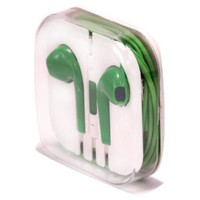 Zeimax Earbuds EarPods With Mic and Remote Earphone Headphone Compatible with iPhone 3 4 5 5S 5C, iPad, iPod (Green)
