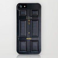 Classic Old sherlock holmes 221b door apple iPhone 4 4s, 5 5s 5c, iPod & samsung galaxy s4 case by Three Second