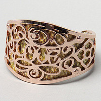 Karmaloop.com - Global Concrete Culture - The Love Scroll Design Bracelet in Rose Gold by Disney Couture Jewelry