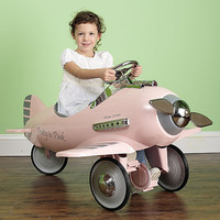 Pretty in Pink Pedal Airplane