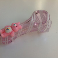 Pink Bear Glass Tobacco Pipe
