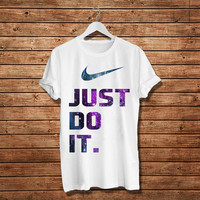 Just Do It. Nike Logo Galaxy Design Women T-Shirt (Available Various Color)