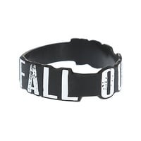 Fall Out Boy Logo Die-Cut Rubber Bracelet