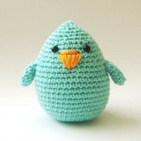 Mint plush bird by sabahnur on Etsy
