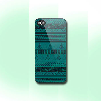 Harry Potter with Tribal Print, iPhone 4/4S case, iPhone 5 Case,iPhone5c Case, Samsung GAlaxy S3/S4 Case, Photo print hard Plastic