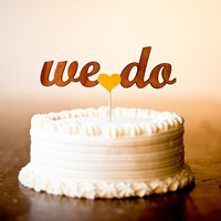 The Whimsical Wedding Cake Topper in Marigold by betteroffwed
