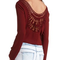 Crochet Backless Crop Top