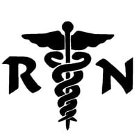 Nurse RN Medical Decal Sticker 6 Inch