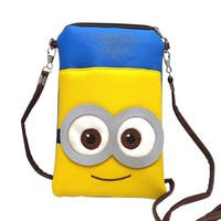 Rulercosplay Despicable Me Two Eyes Minions Cute Coin Purse Fashion Bag (20*12cm)