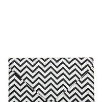 Chevron Envelope Clutch