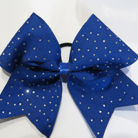 3 inch bow with elastic ponytail holder