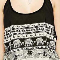 Kiss The Sky Summer Safari Elephant Crop Top