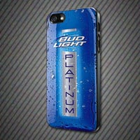 CashCases - Blue Bud Light Platinum Bottle - iPhone 4/4s, 5, 5s, 5c, Samsung S3, S4