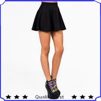Source sexy girl skater skirt blackskirt mini skirt shks49 on m.alibaba.com